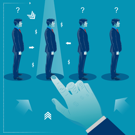 Human resources management Recruitment concept vector illustration
