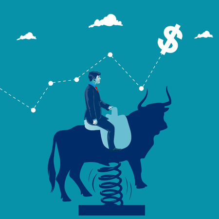 Bull market. Business metaphor, vector illustration Illustration