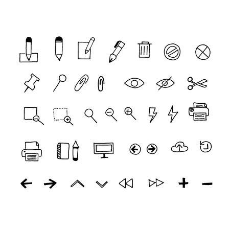 Business icons in sketch style. Vector Illustration 向量圖像