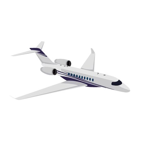 Jet privado, avión, ilustración vectorial