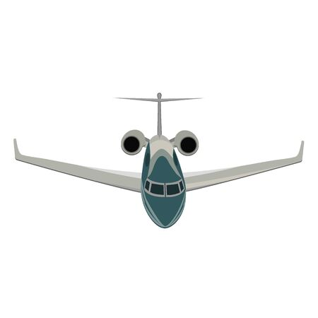 Privat jet, airpane, vector illustration isolated on white