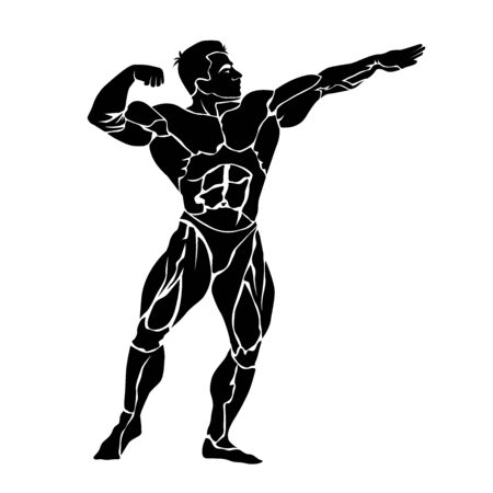Bodybuilding, vector icon