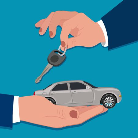 Car loan, car purchase concept, vector illustration