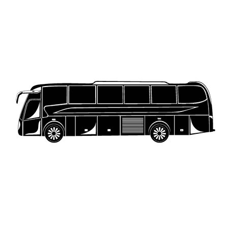 Icon of bus, vector illustration  イラスト・ベクター素材