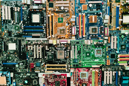 Computer chip circuit motherboard cpu core board color processor technology background or texture with microelectronics hardware concept electronic device semiconductor. Computer motherboard. Editöryel