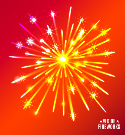 may 9: Illustration of Fireworks