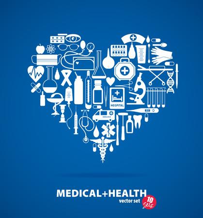 therapist: Medical ser. Heart illustration.
