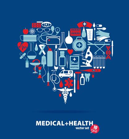 Medical ser. Heart illustration. Vector
