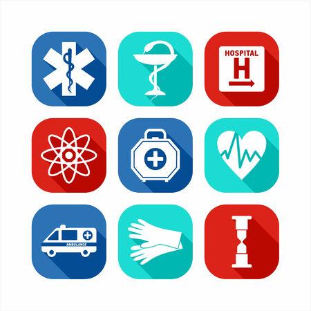 dispensary: Medical icon set.