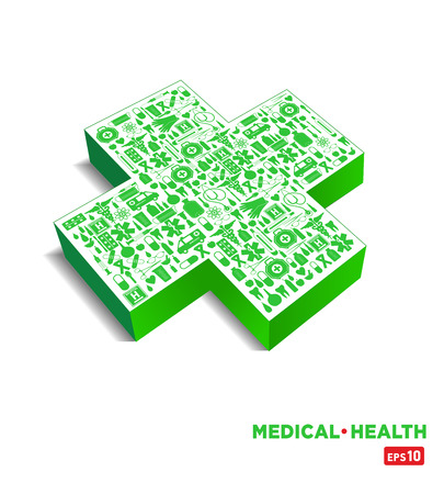 polyclinic: Medical icon background Illustration