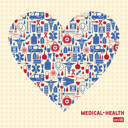 Medical vector background heart. Vector