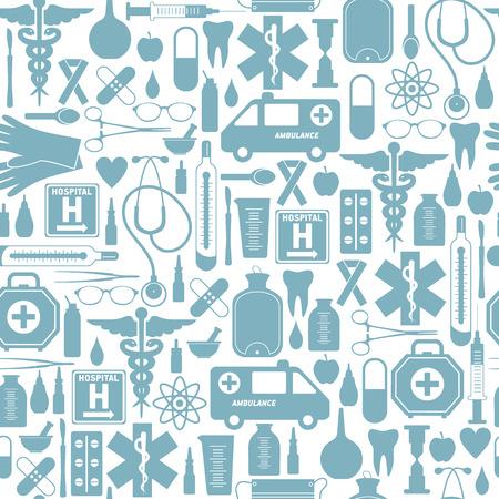 dispensary: Medical seamless background