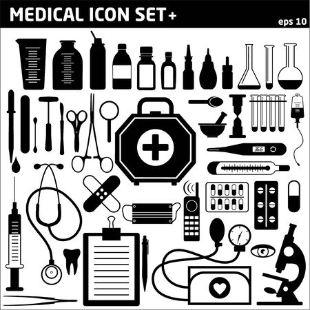 apothecary: Medical icon background Illustration