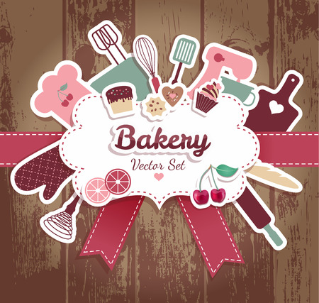 bakery and sweets abstract illustration. Stock fotó - 32203256