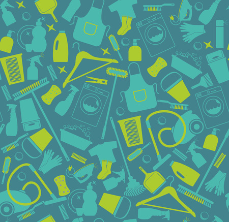 house ware: Clean seamless pattern
