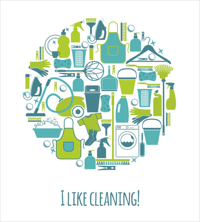 Clean set illustration Vettoriali