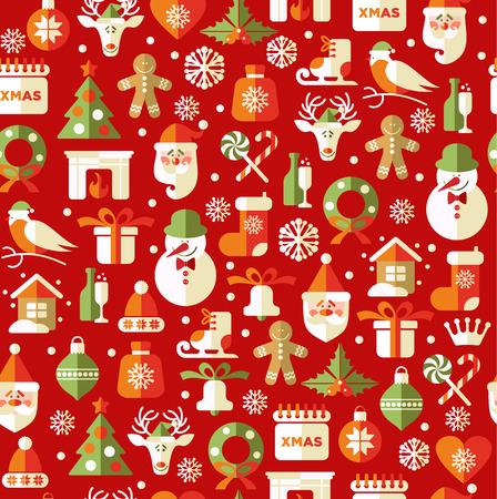 corona navidad: Modelo inconsútil de la Navidad. Vector de fondo. Vectores
