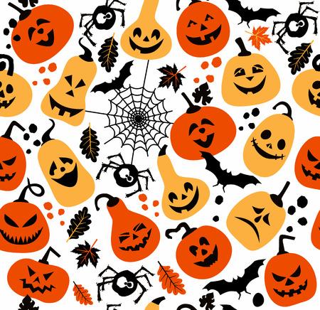 Seamless pattern of halloween. Иллюстрация