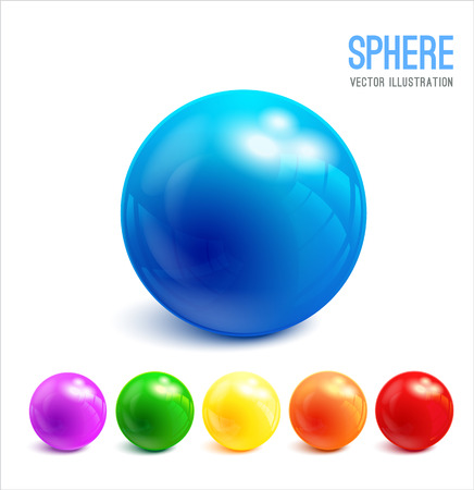 rainbow sphere: 3d Sphere vector object