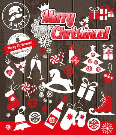 christmas hat: Christmas background decoration. Illustration