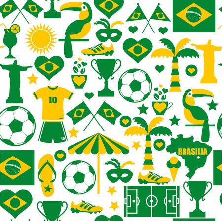 Brazil seamless pattern Zdjęcie Seryjne - 33483355
