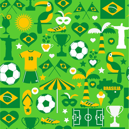 Brazil seamless pattern Vector