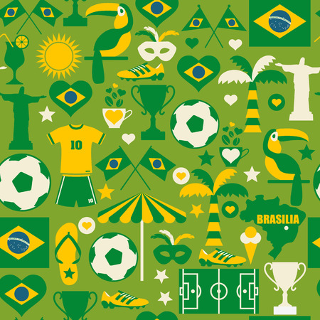 Seamless Brazil pattern Vector