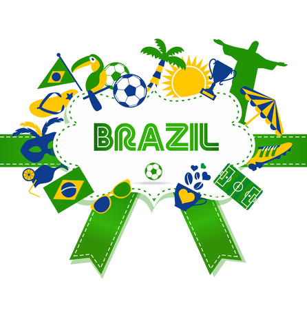 Brazil background. Ilustracja