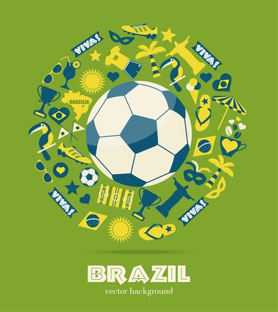 Brazil background.