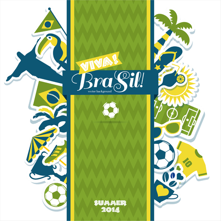 Brazil background. Illustration