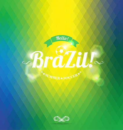 Hello Brazil!Abstract geometric background. Vector