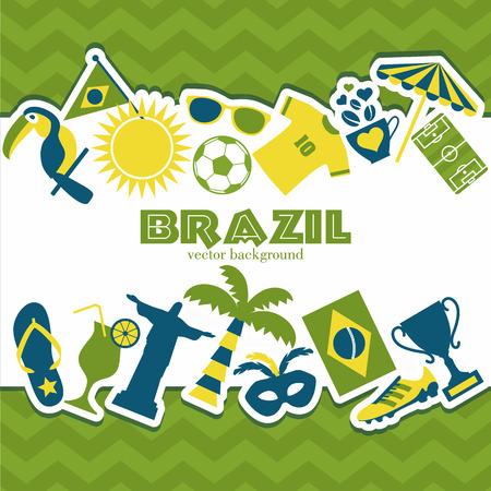 brazil symbol: Brazil background. Illustration