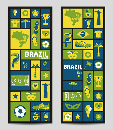 Vector Illustration of Brazil. Banners. Vector