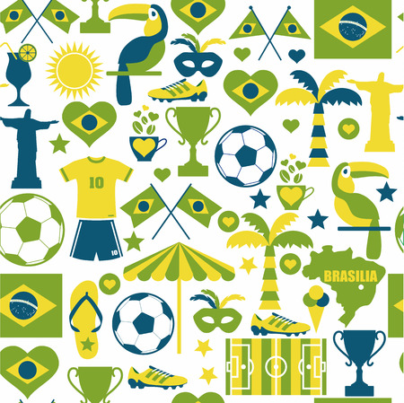 Brazil seamless background. Vector