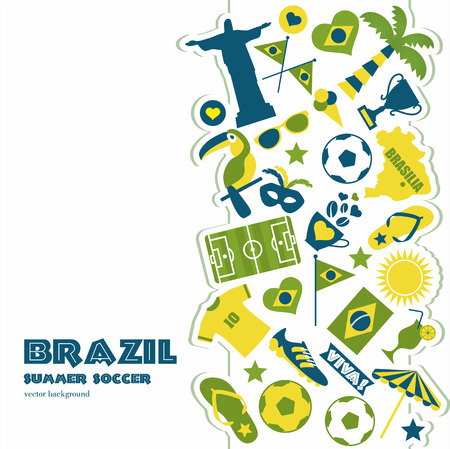 Brazil  icons set. Vector elements for your design. Vector