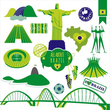 Vector illustration of Brazil. Vector