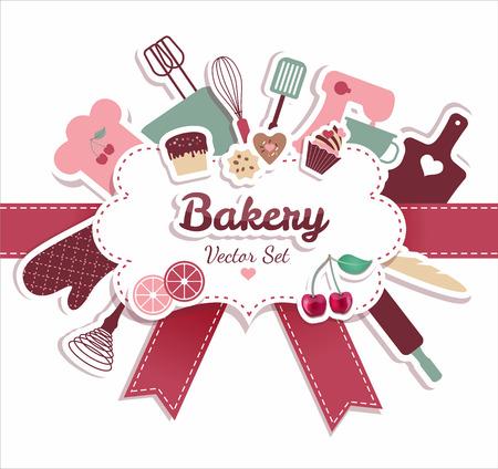 Prodotti da forno e dolci illustrazione