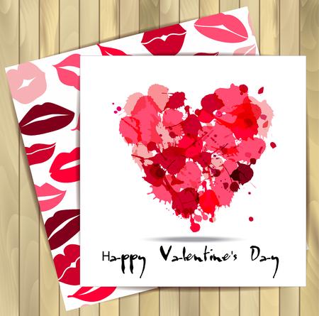 part of me: Patr�n de San Valent�n card.Seamless de labios.