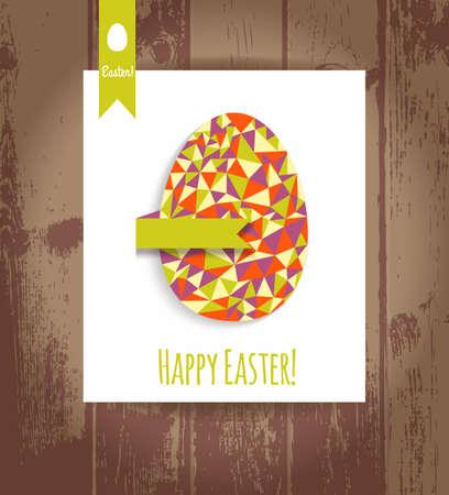 eg: Easter eg card.