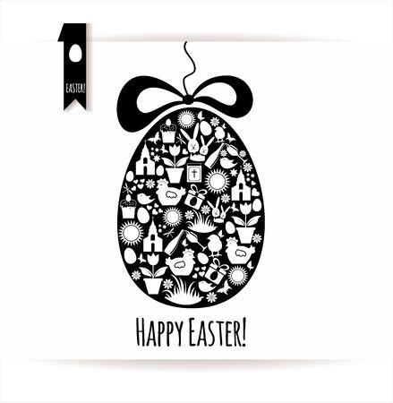 pinion: Easter egg card. Illustration