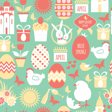 orthodoxy: Easter seamless pattern