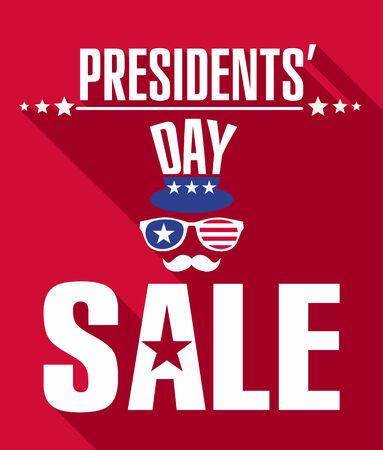 presidents: Presidents day retro background.