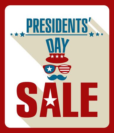 president's: Presidents day retro background.