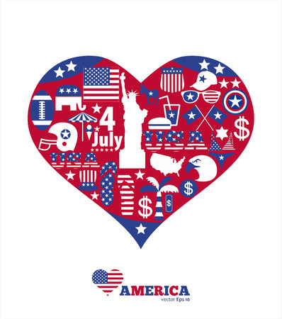 American design elements Vector Illustration
