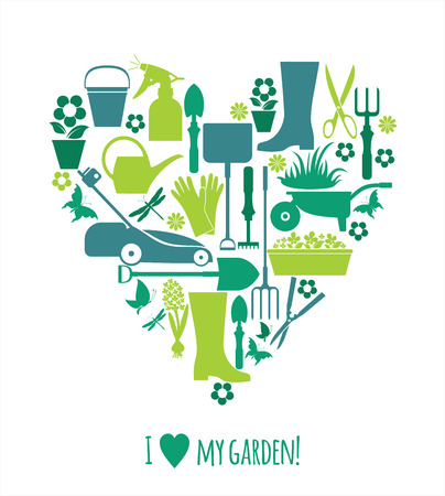 secateurs: Garden icons illustration