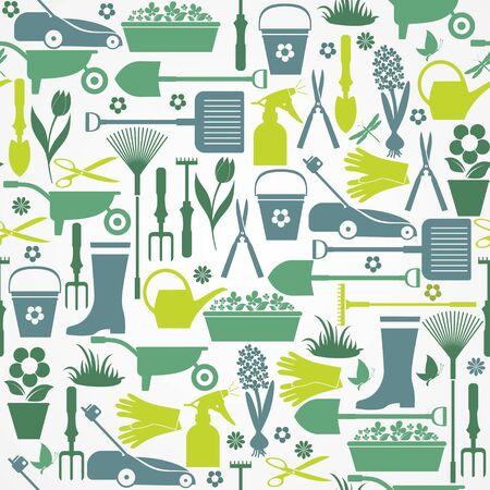 Nahtlose Garten Muster