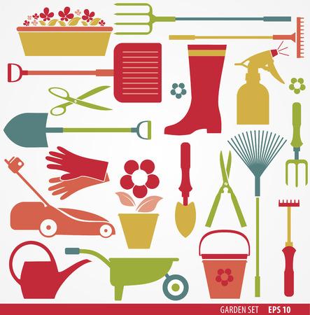 spray can: Garden tools set