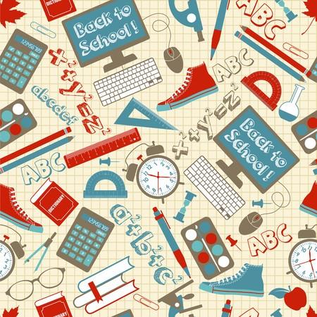 Seamless pattern school. Illustration