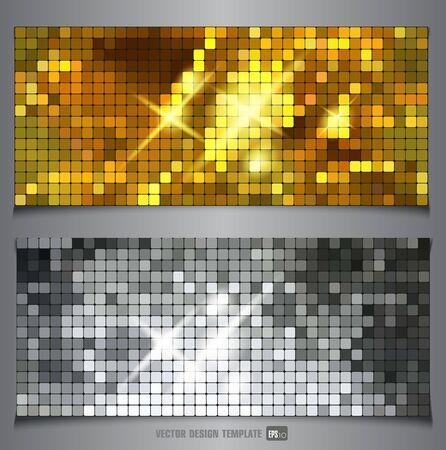gold  ball: Metallic texture. Vector banner.