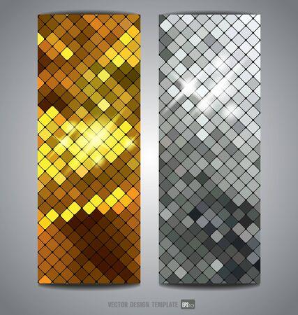 metallic: Metallic texture. Vector banner.